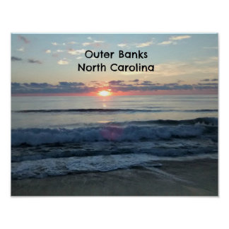Sunrise over the Outer Banks of North Carolina Poster