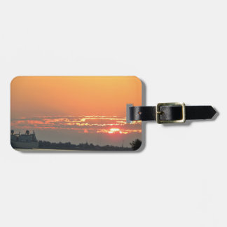 Sunrise over the river luggage tag