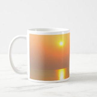 Sunrise over the sea. Classic White Mug