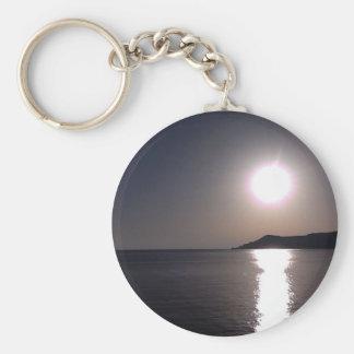 Sunrise over the sea keychain