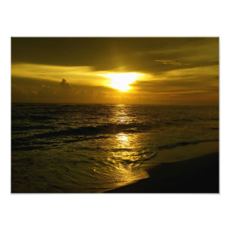 Sunrise Over The Water Photo Print