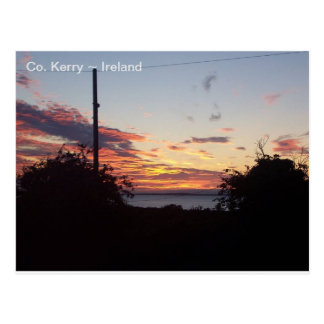 Sunrise over Tralee Bay, Co. Kerry, Ireland. Postcard