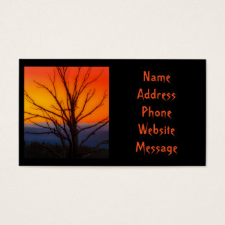 Sunrise Over Yellowstone National Park Design Business Card