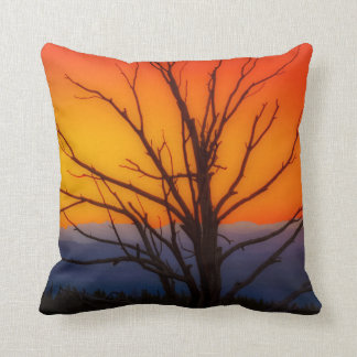 Sunrise Over Yellowstone National Park Design Throw Pillow