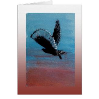 Sunrise Owl Art Card