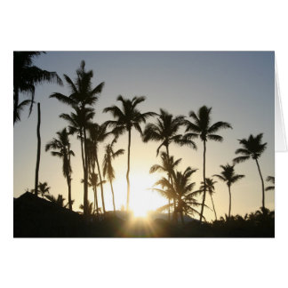 Sunrise Palms with bible verse Card