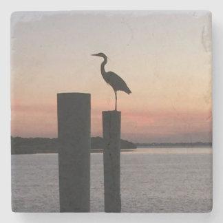 Sunrise Pelican Stone Beverage Coaster