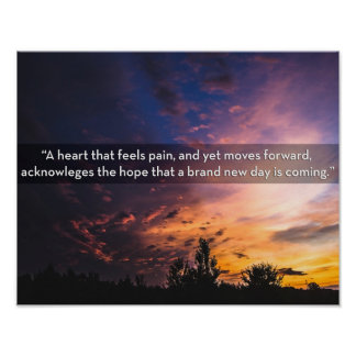 Sunrise picture bringing hope after a storm poster