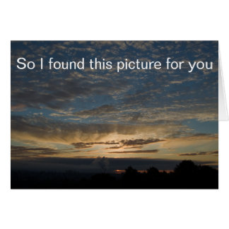 Sunrise Picture Note Card