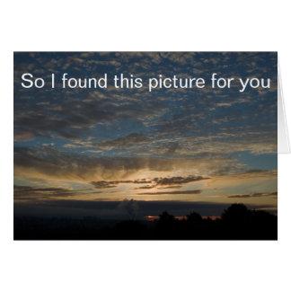 Sunrise Picture Note Card