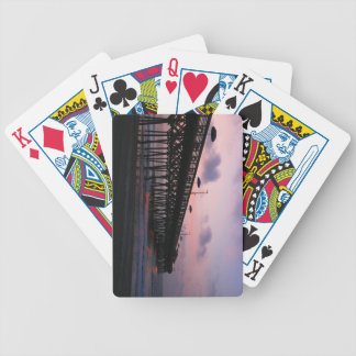 Sunrise Pier Bicycle Playing Cards