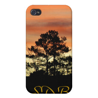 Sunrise Pines Monogram iPhone 4 Case
