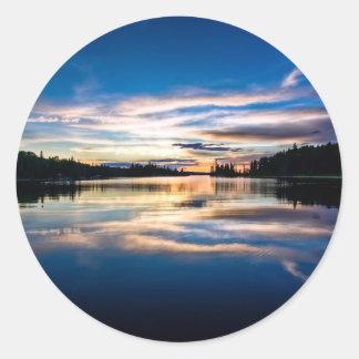 Sunrise River Reflections Classic Round Sticker