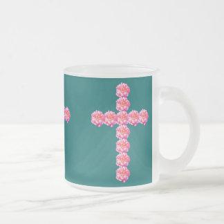 Sunrise Rose Cross 10 oz. Frosted Mug