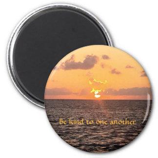 Sunrise Round Magnet