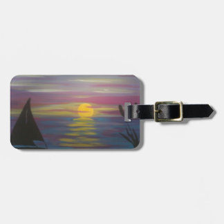 Sunrise Sailboat Luggage Tag