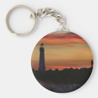 Sunrise Santa Cruz Lighthouse Key Chains