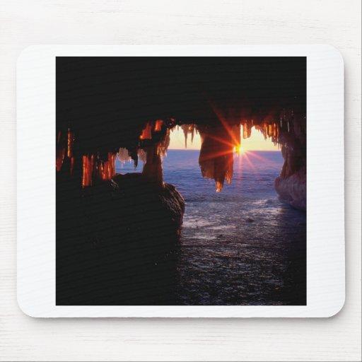 Sunrise Sea Caves Apostle Islands Wisconsin Mousepads