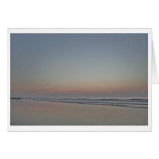 Sunrise, Sea Edge--Ocean Photography Card