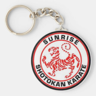 Sunrise Shotokan Karate Keyrings Basic Round Button Keychain