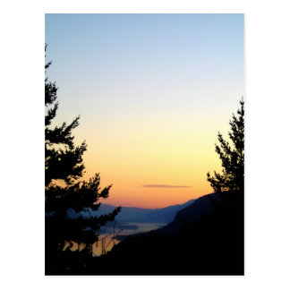 Sunrise Silhouette on the Columbia Gorge Postcard