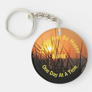 Sunrise Silhouette One Day At A Time Personalized Acrylic Key Chains