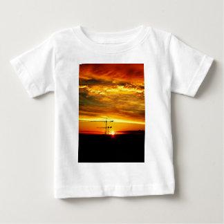 Sunrise silhouetting Cranes Baby T-Shirt