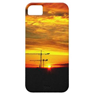 Sunrise silhouetting Cranes iPhone 5 Covers