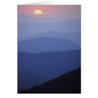 Sunrise, Southern Appalachian Mountains, Great Card