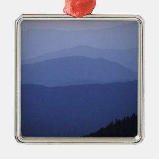 Sunrise, Southern Appalachian Mountains, Great Silver-Colored Square Ornament