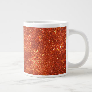 Sunrise sparkle, natural glitter frost large coffee mug