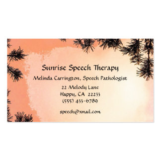Sunrise Speech Therapy Business Card