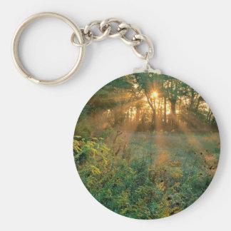 Sunrise Sunbeams Nashville Basic Round Button Keychain