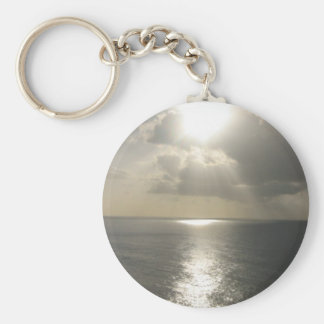 Sunrise Sunset Basic Round Button Keychain