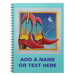 Sunrise Sunset Cowboy Boots Notebook