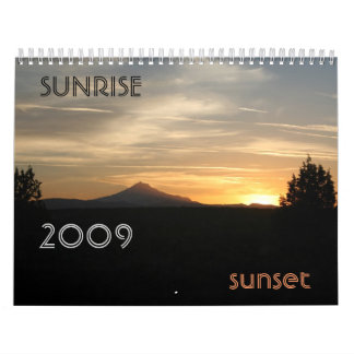 Sunrise Sunset...customizable! Wall Calendars