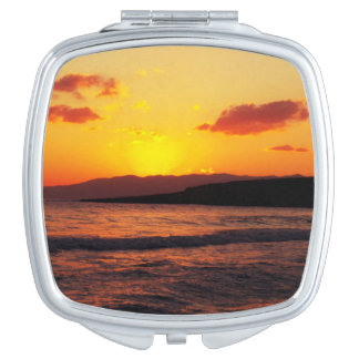 Sunrise Sunset Holiday Travel Makeup Mirror