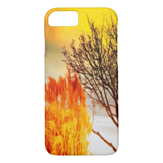 sunrise Sunset landscape tree silhouette iPhone 8/7 Case
