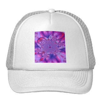 Sunrise Sunset Sky Blue Bow White Lace Pearls Trucker Hat