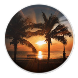 Sunrise Sunset Sun Ceramic Knob