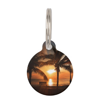 Sunrise Sunset Sun Pet Tag