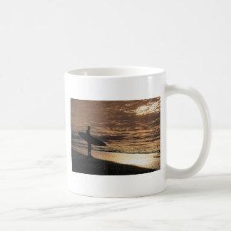 Sunrise surfer classic white coffee mug