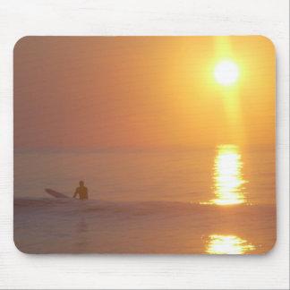 Sunrise Surfer Mouse Pad