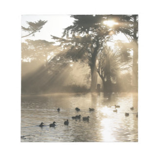 Sunrise Swimming At The Duck Pond Notepads