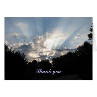 sunrise thank you card