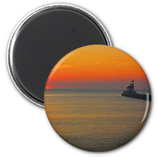 Sunrise through the Canal 2 Inch Round Magnet