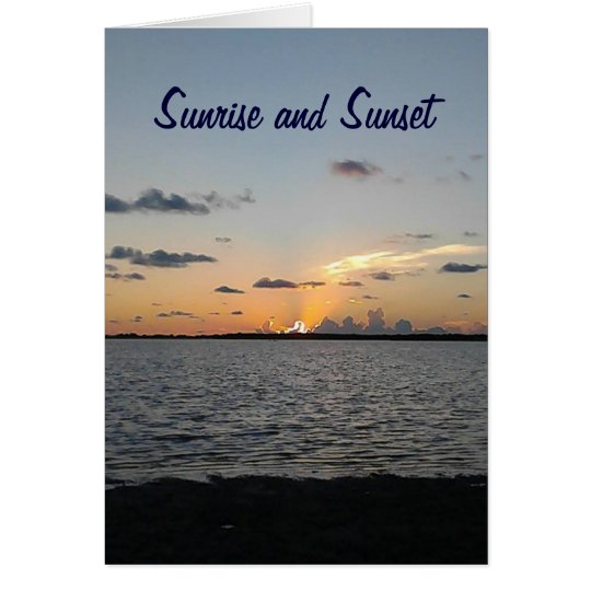 SUNRISE TO SUNSET/EVERY MINUTE-HAPPY BIRTHDAY CARD