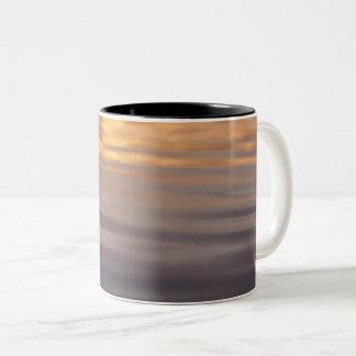 Sunrise waters Two-Tone coffee mug