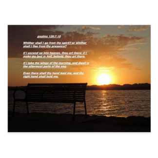 sunrise with bible verse postcard