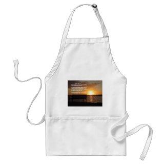 sunrise with bible verse standard apron